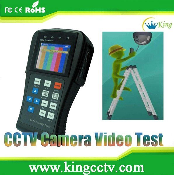 Lower price cctv tester,PTZ tester,ccd camera tester: HK-TM801 with 12V DC for surveillance system