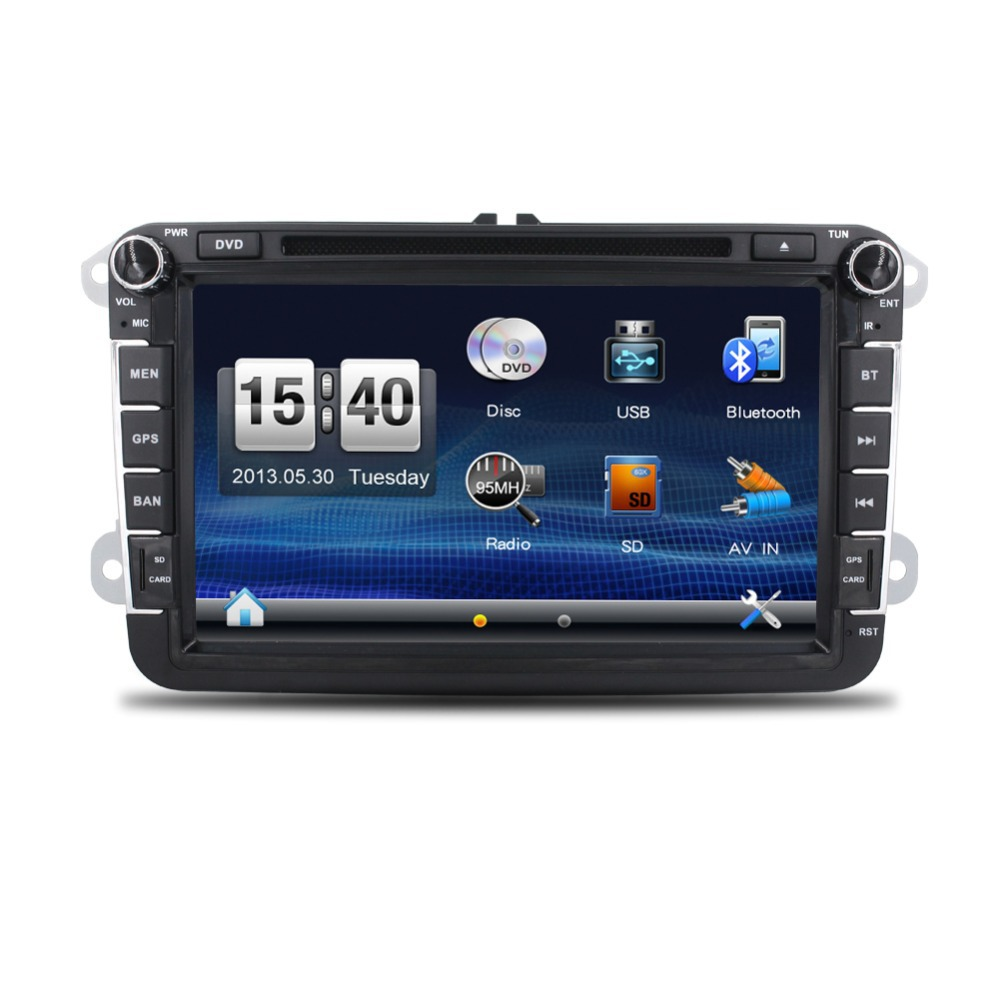 New! 2din Car DVD GPS player for VW GOLF 5 Golf 6 POLO PASSAT CC JETTA TIGUAN TOURAN EOS SHARAN SCIROCCO TRANSPORTER T5 CADDY(China (Mainland))