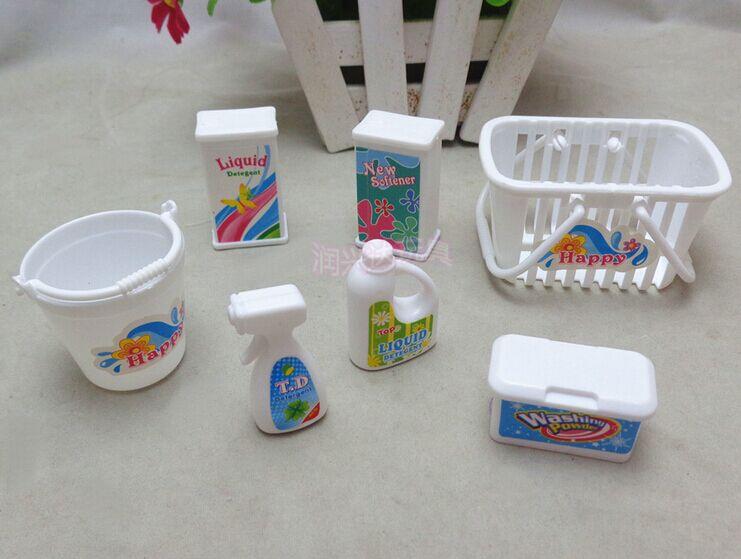 Free shipping  Girls play house toys Doll Accessories Handmade Dolls Plastic washing set For Barbie Dolls/Kali dolls<br><br>Aliexpress