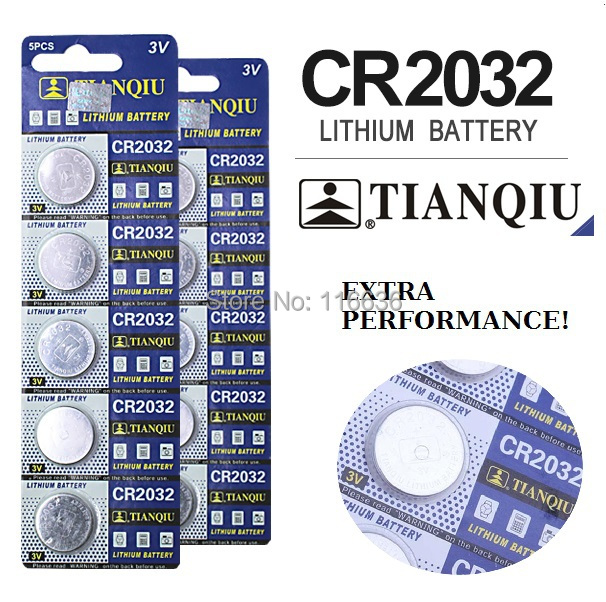 10pcs lot High Quality TIANQIU CR2032 L14 cr2032 3v lithium battery BR2032 CR2332 2032 Cell Button Batteries Card Retail(China (Mainland))