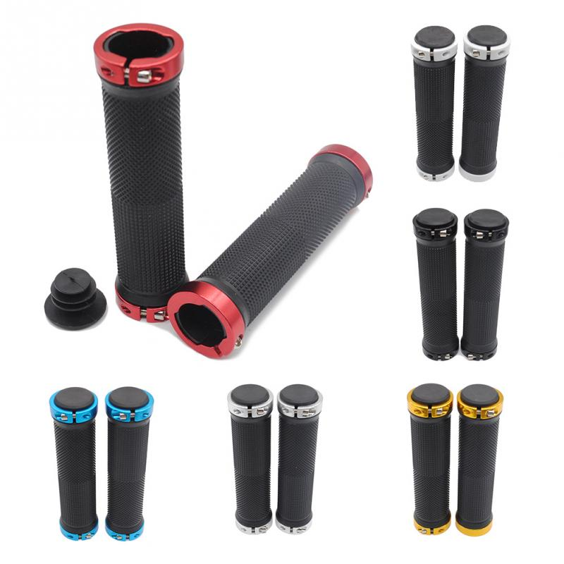 1 Pair MTB Mountain Bike Grips Rubber Lock On Handlebars Lock-on Grips Fixed Gear Fixie Grips End knock off(China (Mainland))