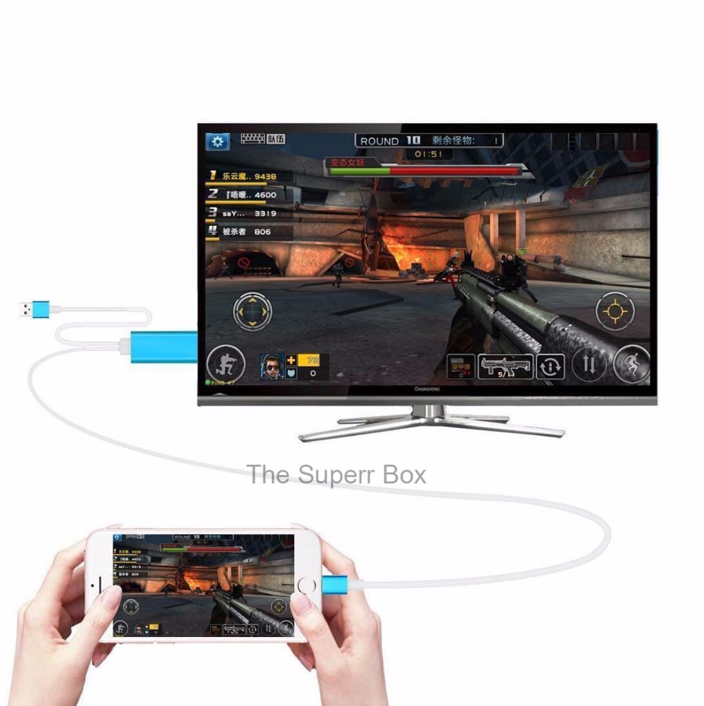 Newest HIgh Quality hdmi cable 2M 8 Pin To HDMI Cable for iPhone 5/5S/6/6 plus/6S/6S Plus/ipad Support 1080P connection TV HDTV<br><br>Aliexpress