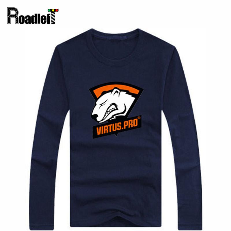 2016 Men / Women autumn cotton casual t shirt Virtus.Pro Gaming Team Jersey Mens hip hop sport long sleeve printed t shirts(China (Mainland))