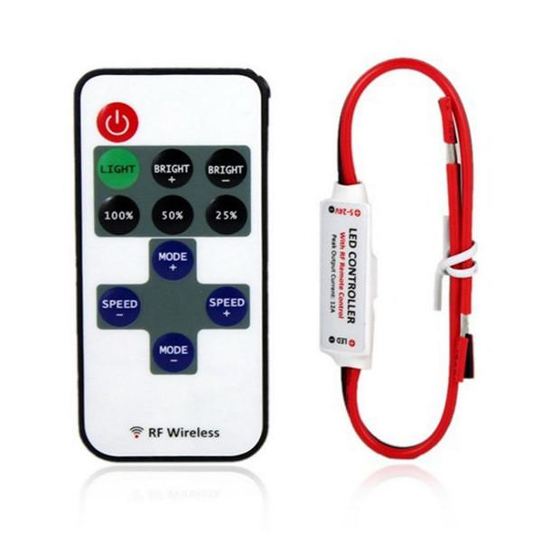 1set Single Color Remote Control Dimmer DC 12V 11keys Mini Wireless RF LED Controller for led Strip light SMD 5050 / 3528(China (Mainland))