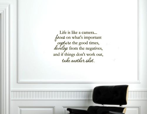 Life is like a camera vinyl home decoration wall sticker(China (Mainland))