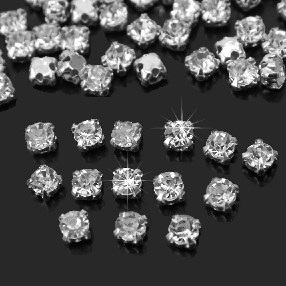 200Pcs Shiny Sparkle Crystal Clear Strass Sew on Rhinestone Stones for Clothes Dress Handbag Sewing Rhinestone Decoration(China (Mainland))