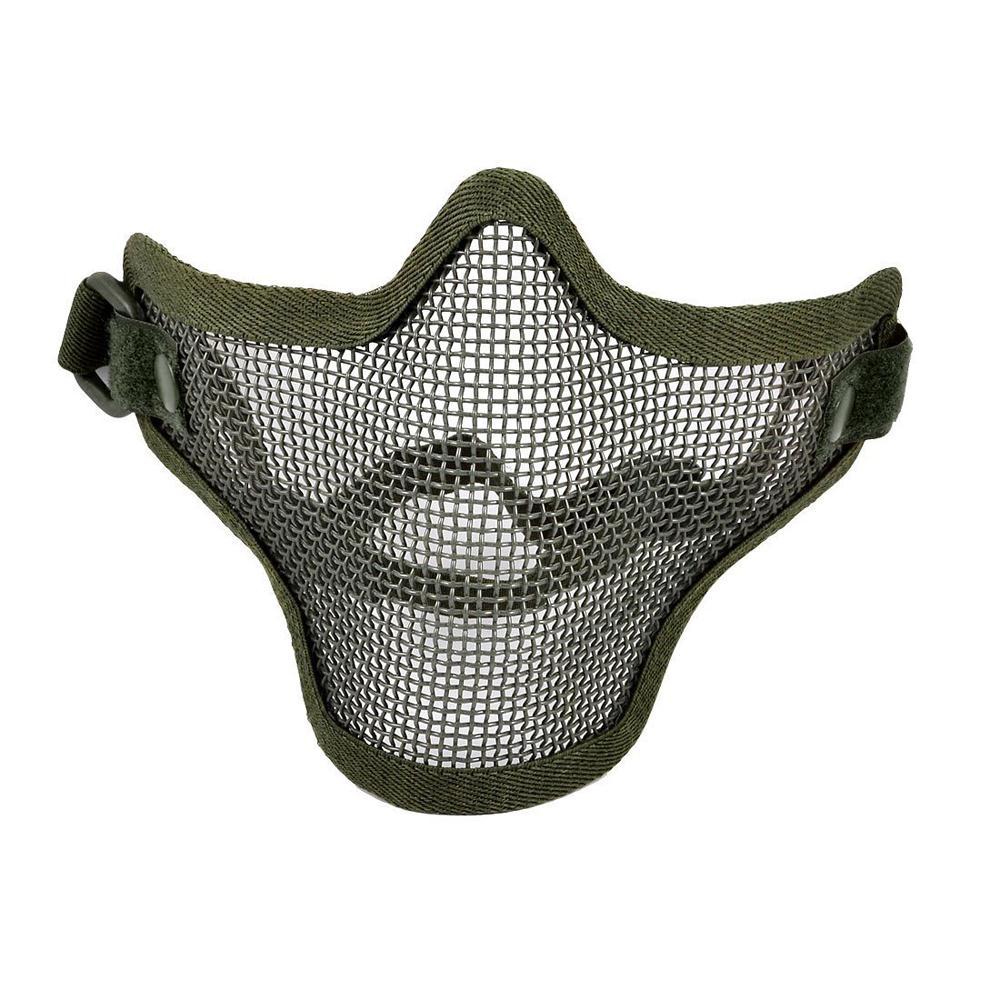 New Olive Green Airsoft War Game Half Face Guard Mesh Mask Protector Protective(China (Mainland))