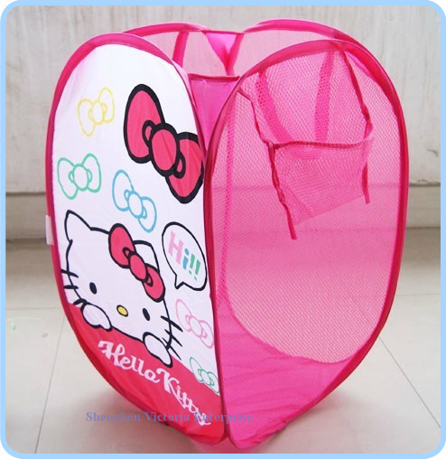 12PCS Kawaii Hello KITTY Clothes Rack BAG & Home Storage Rack Bag Nylon Mesh Net Storage Box Pouch Container Holder(China (Mainland))