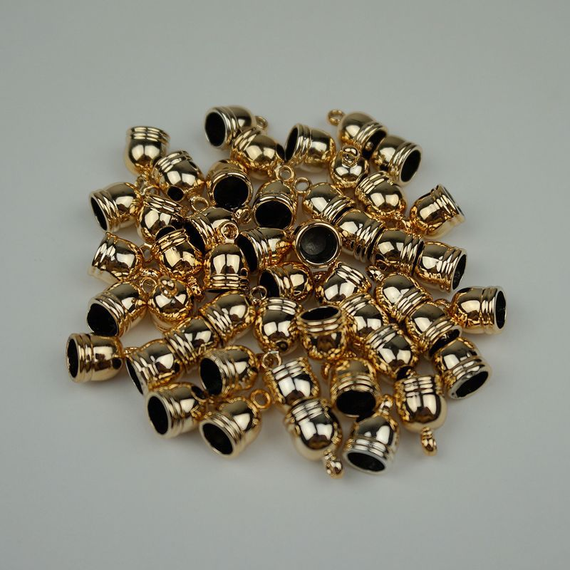 300pcs8 13mm uv plating gold end caps