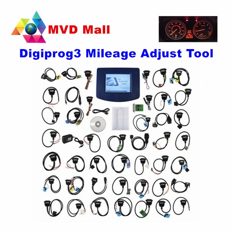 2016 Newest V4.94 Digiprog3 Full Cables Digiprog iii Digiprog 3 OBD2 Odometer Programmer DP3 Mileage Correction Tool DHL Free(China (Mainland))
