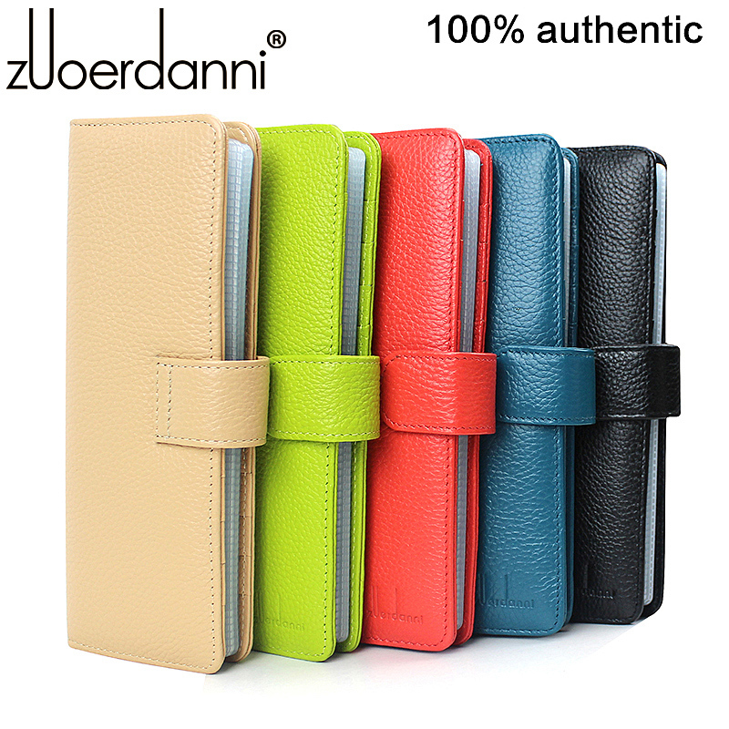 Brand Genuine Leather Men Business Card Holder,women Card Holder With 52 Card Slots,luxury Gift For Hot-sales,porte Carte Credit(China (Mainland))