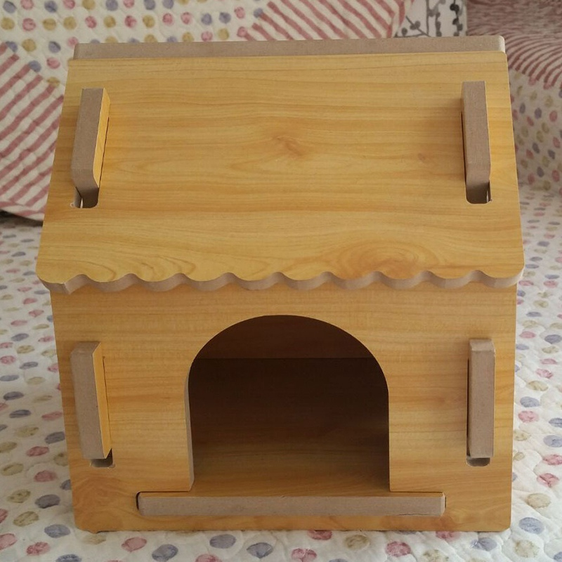 High Quality Pet Dog Wooden House Detachable Puppy Kennel Cat Kitten Indoor Outdoor Dog Bed Wood Dog Kennel Pet Nest Cage(China (Mainland))