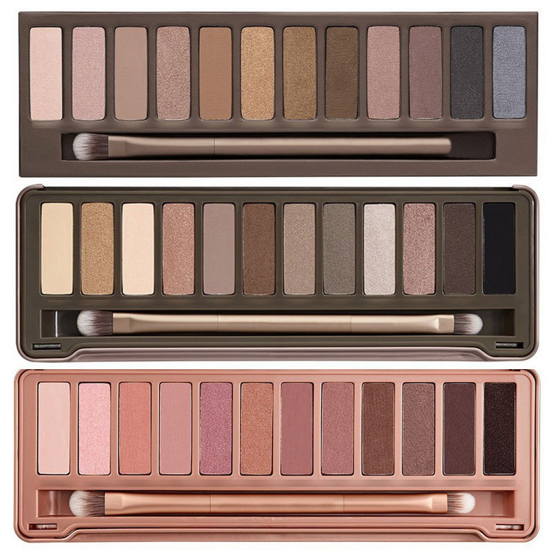 New hot sale wholesale(3pieces/lot) brand makeup set NK1 NK2 NK 3 12 color eyeshadow palette eye shadow set(China (Mainland))