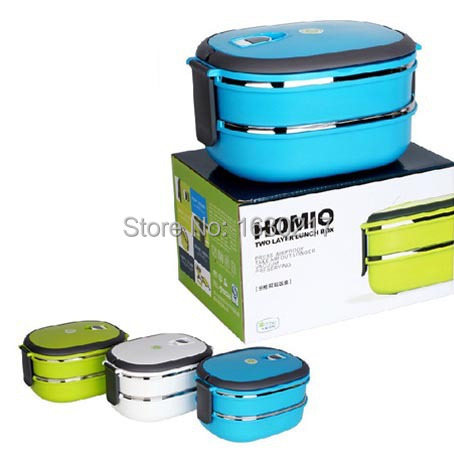 double layers stainless steel japanese lunch box kids bento box 1480ml thermo. Black Bedroom Furniture Sets. Home Design Ideas