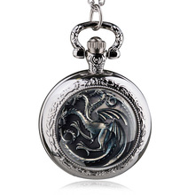 Buy New Antique House Targaryen Fire Blood Song Ice Fire Family Crest Game Thrones Pocket Watch for $3.39 in AliExpress store