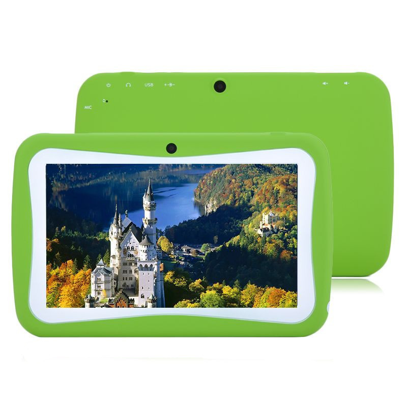 7 Inch Children Kids Tablet PC Quad Core RK3026 512MB/4GB RAM 1.2Ghz Android 4.4 Dual Camera Education Games Wifi Bluetooth(China (Mainland))