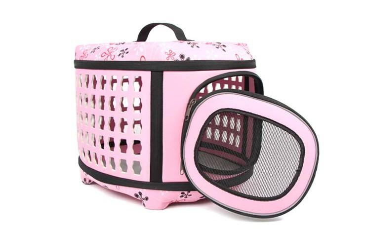 Free Shipping New Arrival Pet EVA Folding Carrier Cat Dog Traveling Bag Small Dog Flight Case Pet Carrier Portable Pet Bag