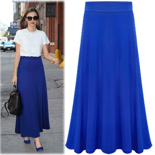 Spring Summer Casual Long Bust Skirt For Women's Ankle ...