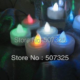 100pcs/LOT, Wholesale RGB Color Romantic Wedding Party Home Decor Electronic Emulational LED Lights Wedding Decorations