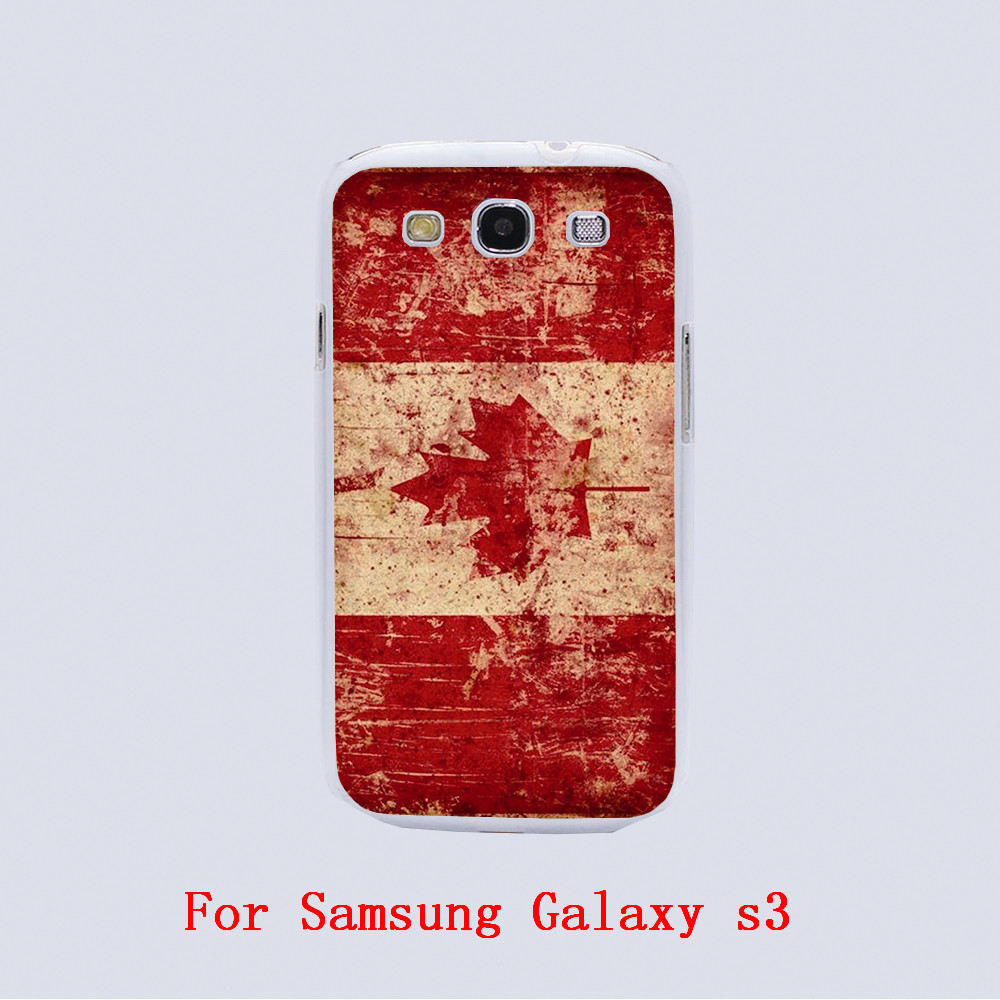 Retro flag of Canada Design Transparent phone cover cases For Samsung Galaxy S3 9300 /S4 /S5 /S6 /S6 Edge(China (Mainland))