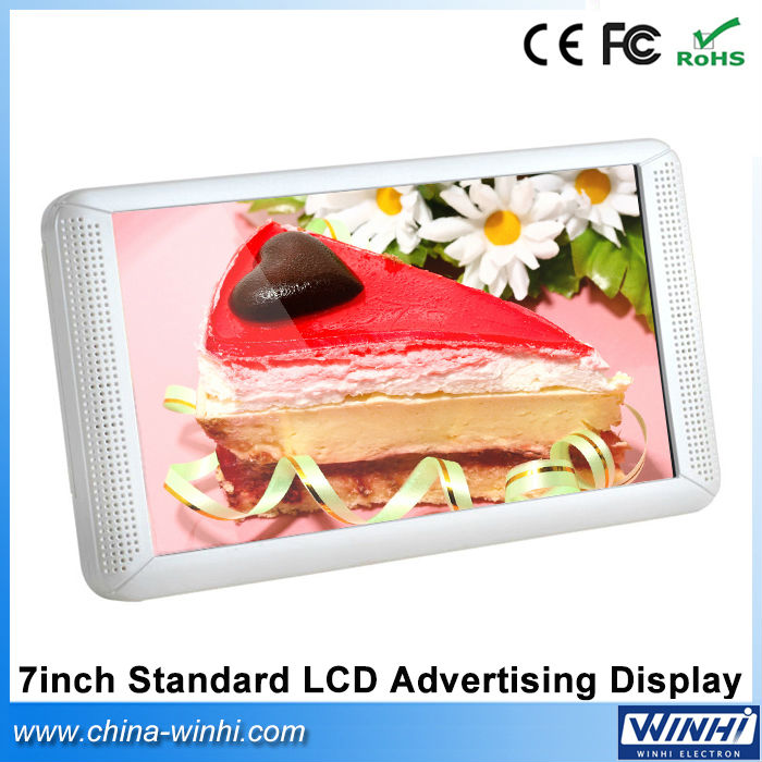 7 inch TFT shelf edge USB SD Auto play latest Standard LCD Advertising digital signage kiosk(China (Mainland))