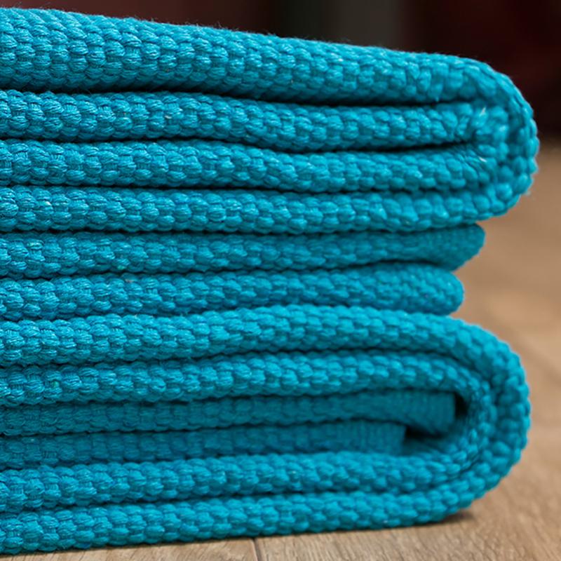 Swan lake blue line 100% cotton knitted fabric mats carpet mat doormat tatami mats(China (Mainland))