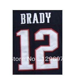 Free Shipping #12 Tom Brady Men's Game Football Jersey,Embroidery and Sewing Logos,Size S--3XL(China (Mainland))