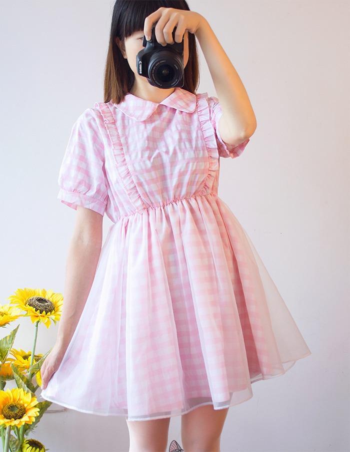 Popular Pink Plaid Lolita Dress-Buy Cheap Pink Plaid Lolita Dress ...