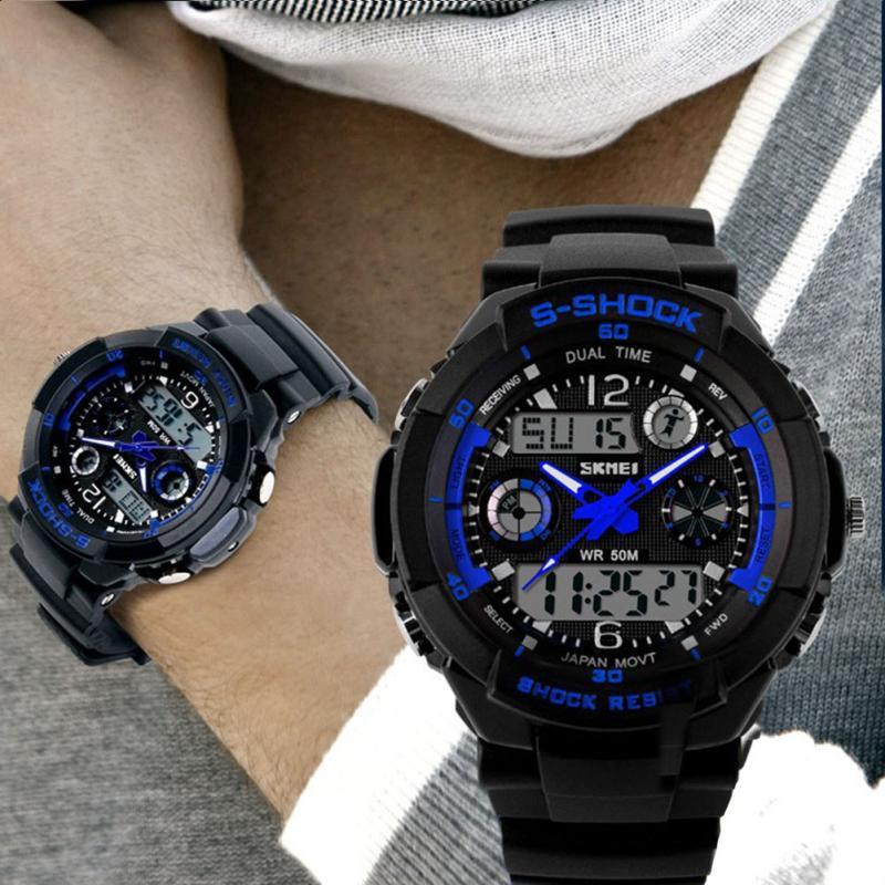 S SHOCK 2016 New SKMEI Men Watch Military Sports Watches Montre Hombra Digital LED Quartz Wristwatches relogio masculino(China (Mainland))