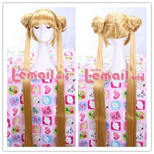 Aino Minako Sailor Moon Long Straight Yellow Cos Girl Wig CW203<br><br>Aliexpress