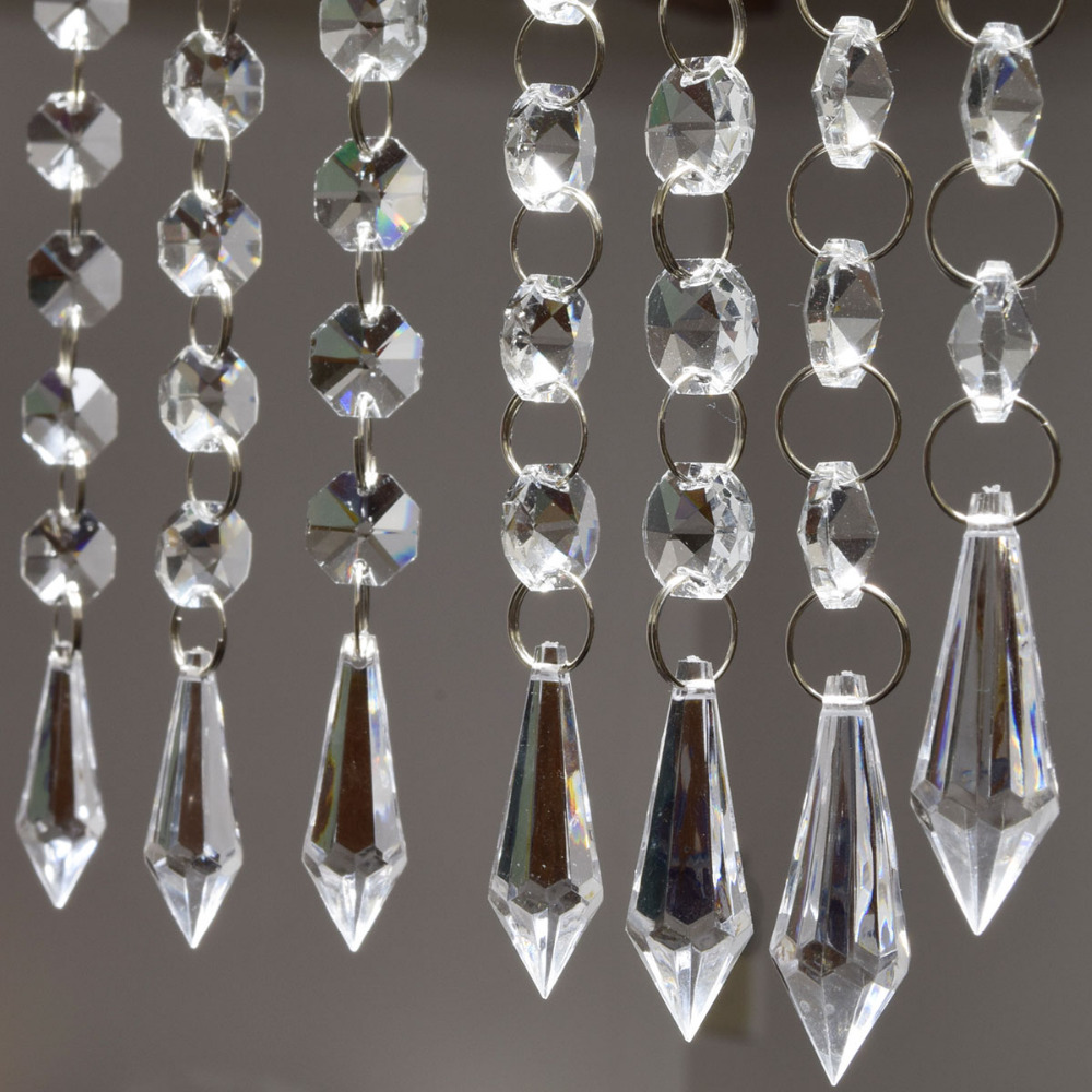 6 strands 20 acrylic crystal garland chandelier hanging for Acrylic decoration