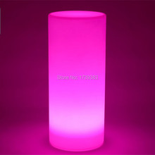 Free shipping waterproof multi color H36 CM LED SMALL Tower Pillar Floor lamp outdoor round column lights of landscape lighting