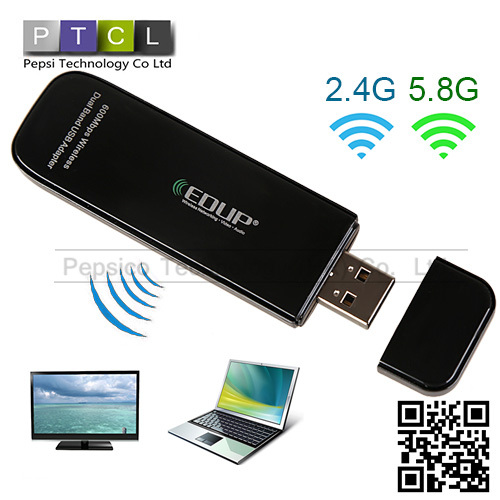 300mbps Wifi wirless 2.4G / 5.8G dual band Synchronization Support usb adapter Speed And Coverge antenna 150 - 450M Network Card(China (Mainland))