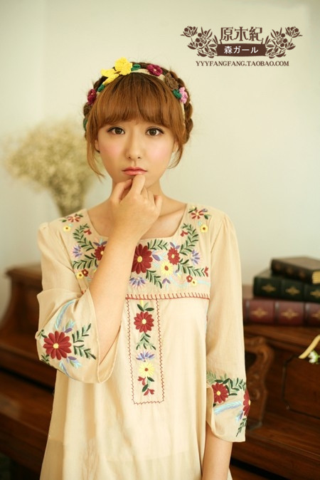 Free Shipping Forest Mori Girl Japanese Fashion Spring