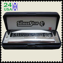 New Hohner international Silver Star 10 hole harmonica Diatonic key C Blues Jazz band Music instrument wholesale(China (Mainland))