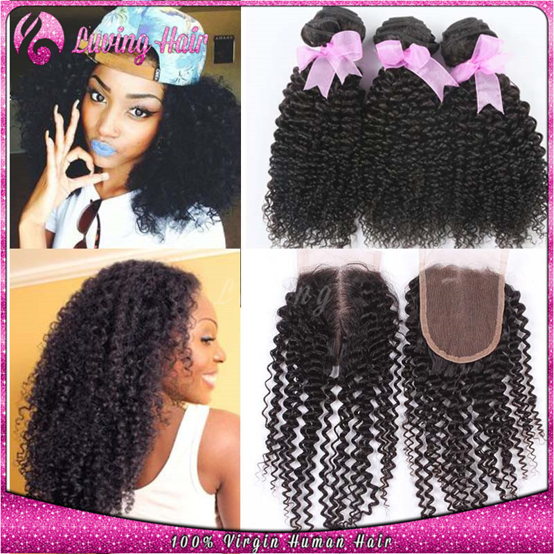 Гаджет  +== unprocessed Brazilian kinky curly virgin hair with closure,4 Bundles Mongolian Kinky Curly Virgin hair 3 BundlesWith Closure None Волосы и аксессуары