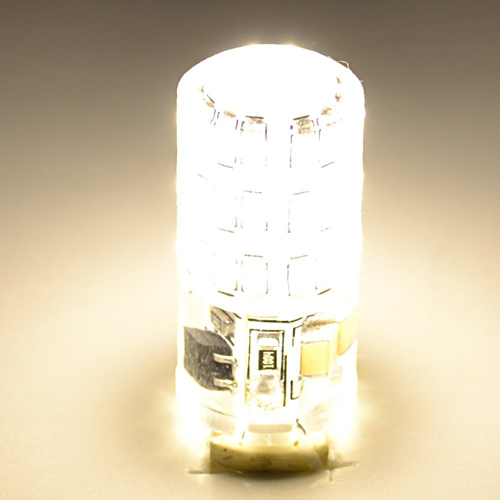 led G9 lamp 360 degree full lighting AC220V 3014 5W/45LEDs highlight Crystal Silicone Candle Replace halogen lamps lighting bulb(China (Mainland))