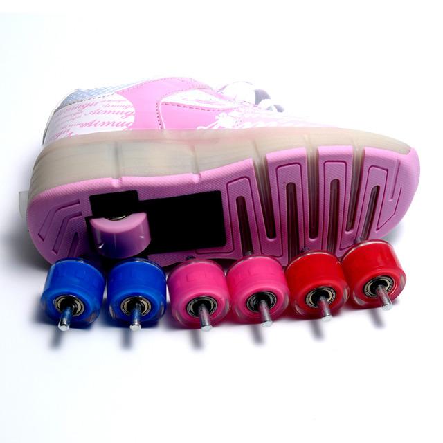 Один Пары Ребенок Джазовый Heelys' Колеса, дети Ролик Скейт Обувь Колеса, дети ...