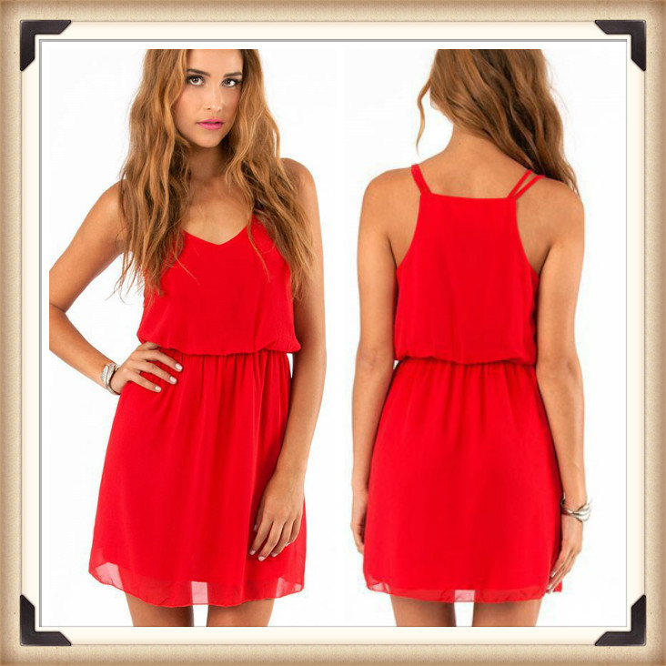 New arrival high fashion cheapest price feminine chiffon dress(China (Mainland))