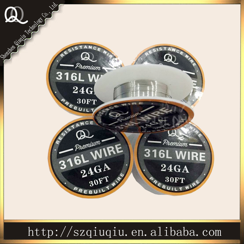 Origina QQ best quality Stainless Steel 316L Resistance Wire size 24ga (10m/roll) for ecigarette RDA wire(China (Mainland))