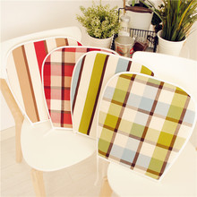 American Style Plaid Stripe Series 100% Cotton cloth Seat Cushion
