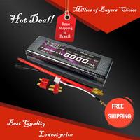 Free Shipping HRB Hard Carse Banana Connector Lipo Battery 2S 7.4V 6000mah 60C Max 70C Toys Hobbies For Remote Control Car Parts
