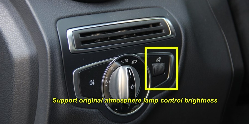 Mercedes Benz C MB W205 or GLC 2014 2015 2016 Dashboard Interior Ambient Light Controler