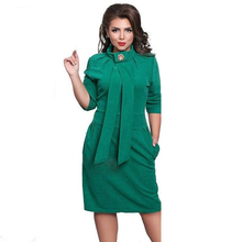 Buy 2017 New Designer Dress Women Plus Size Vestidos Felame Ladies Turtleneck 6XL Knee Length Oversized Sexy Knee Length Dress Party for $16.81 in AliExpress store