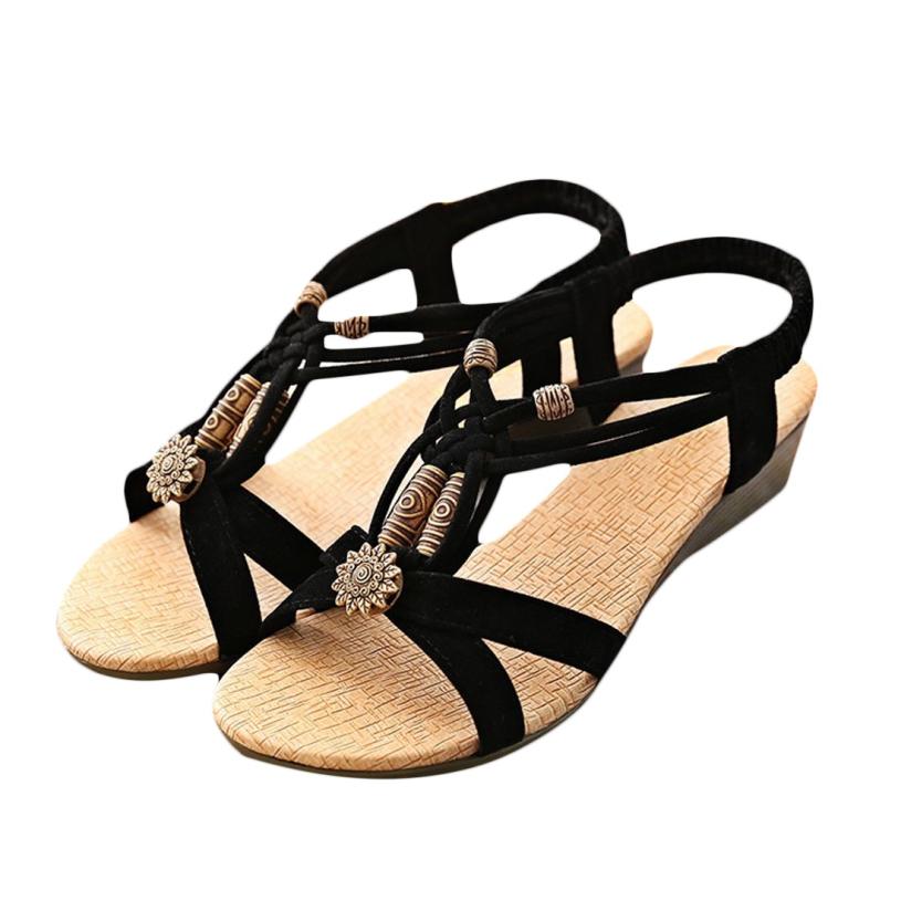 Brand new Sandals 2015 Cheap Women's Casual Peep-toe Flat Buckle Shoes Roman Summer(China (Mainland))