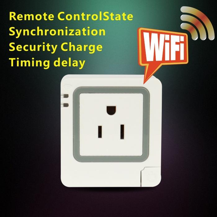 2015 latest American standard wifi smart socket smart home remote switch wireless remote control APP(China (Mainland))