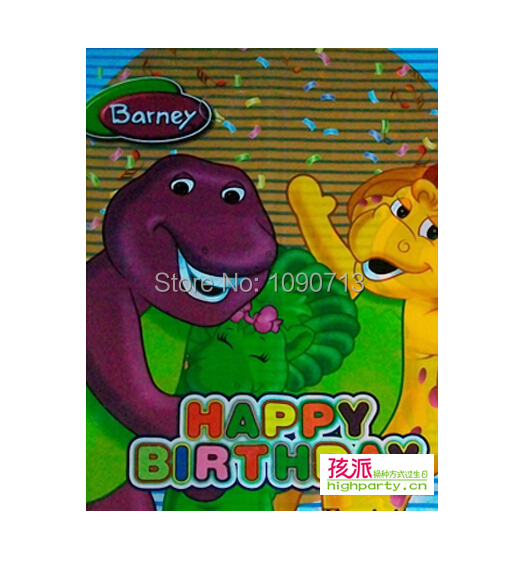 Free Shipping 12Pcs/lot The Dinosaur Barney Series Gift Bag Children Birthday Party Gifts Party Favor Accessories(China (Mainland))