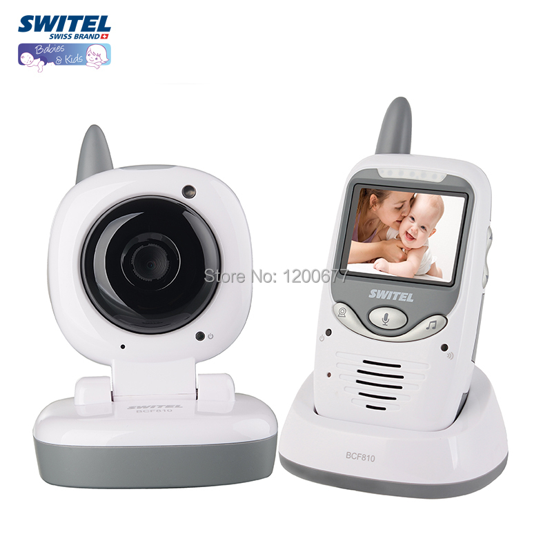 2015 Hot-selling Switel baby monitor 2.4G/Night vision/Lullaby/2.4inch LCD/ intercom baba eletronica video babysitter monitor(China (Mainland))