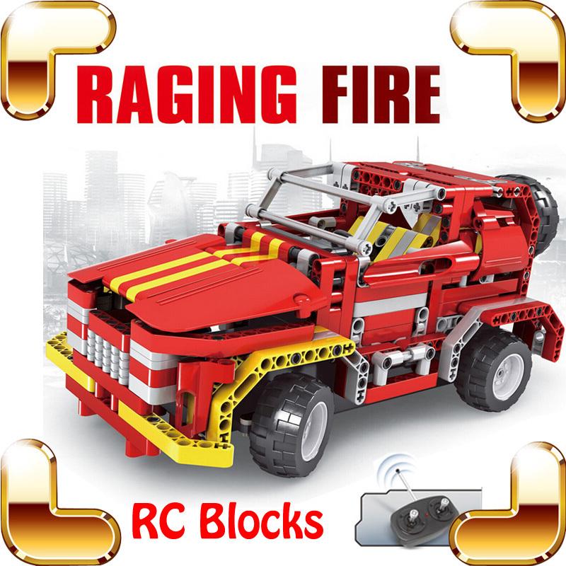 New Idea Gift 8002 Raging Fire 4CH RC Blocks Jeep Car Electric Radio Control Truck Vehicle DIY Game Racing Fun Match Boys Toys(China (Mainland))