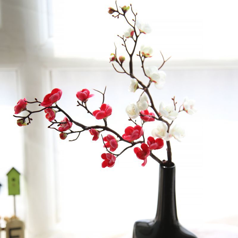 CAMMITEVER New Red White Pink Rose Plum China Artificial Flowers Silk Flower Wedding Festive & Party Supply DIY Home Decoration(China (Mainland))